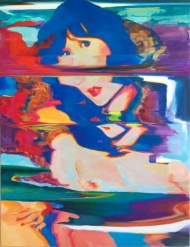 陶显《猿乐町#1》 132.8 x 101.6cm 布面油画