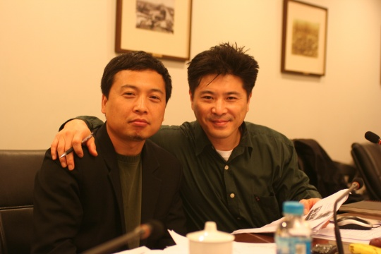 李圆一与黄笃(2006,在上海双年展会议上)