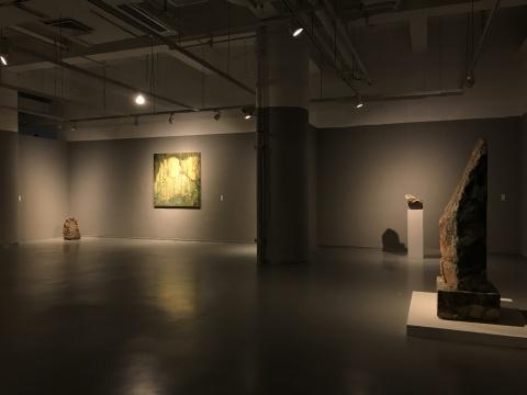 尹朝阳作品展览现场