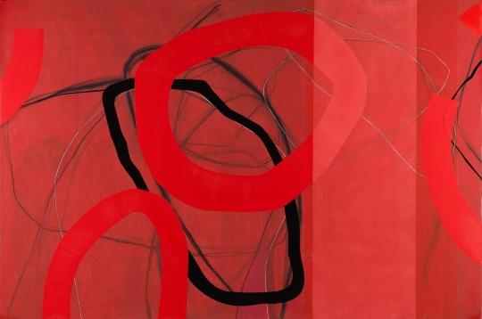《红 之二》200×300cm布面综合材料 2017