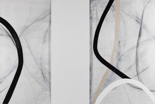 《白影—线 之一》200×300cm布面综合材料 2017