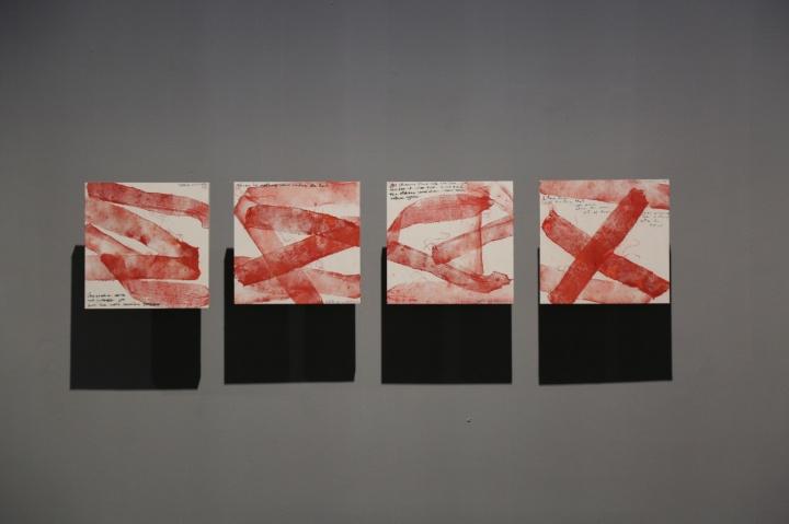 王璜生用纱布拓印的一系列作品