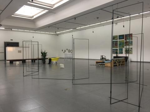秦观伟&王礼军在德山艺术空间展览现场