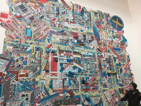 李涵《798》,艺术微喷,540 × 470 cm,2017