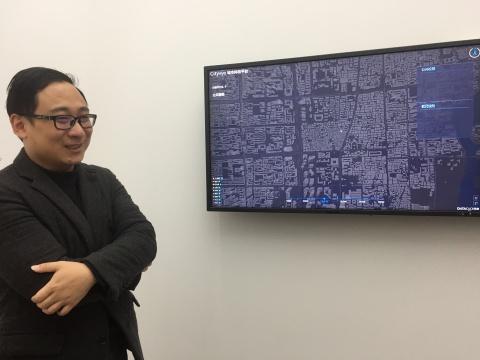 李昊作品《全息之境——大数据与城市多维透视》