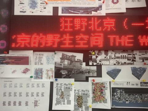 展现了王硕一系列城市研究的档案与文献