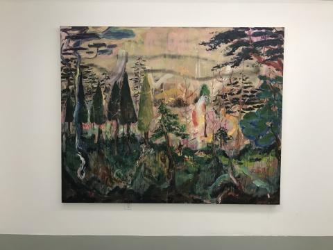董鹤《如何生活才能去天堂》200×250cm布面喷漆油画 2016-2017