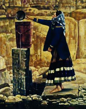程丛林《取水》143x115cm布面油彩1991年