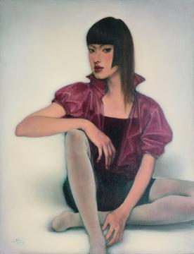 庞茂琨《女孩》111×86cm布面油彩 2004年