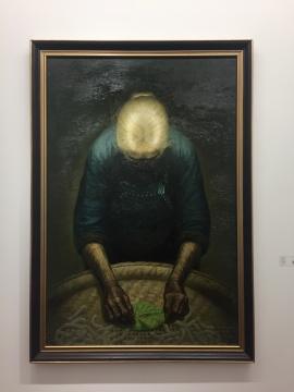 罗中立 《春蚕》 200×134cm 布面油画 1983