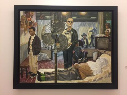 刘小东 《大雨(纽约)》 142×182cm 布面油画 1993(唐炬藏品)