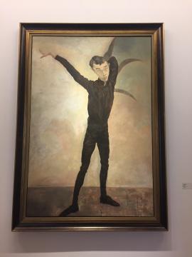 毛焰《记忆或者舞蹈的黑色玫瑰》 230×150cm 布面油画 1996