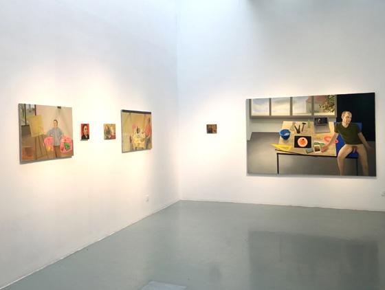 """2016艾米李画廊""""爱之诸像 玛丽昂 · 巴达雅尔""""展览现场(©艾米李画廊)"""