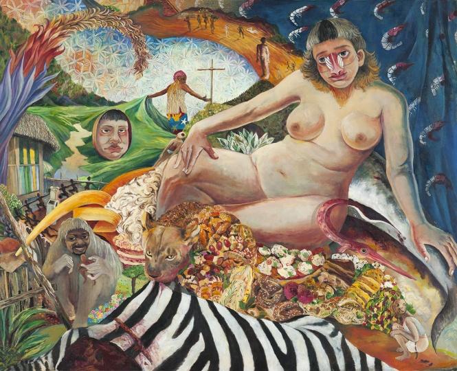 一个女人 2016 布面油画 130×160cm