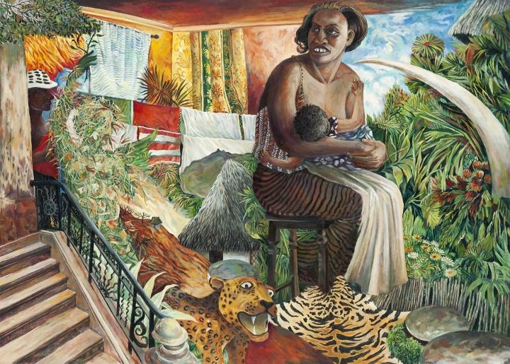 蒙巴萨的母亲 2017 布面油画 140×195cm