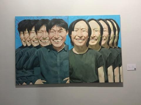 《朋友》114×88cm×2 布上油画 1992