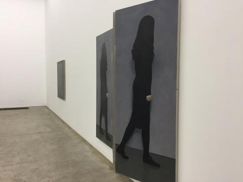 《放映》 200×80cm×3 布面油画 2017