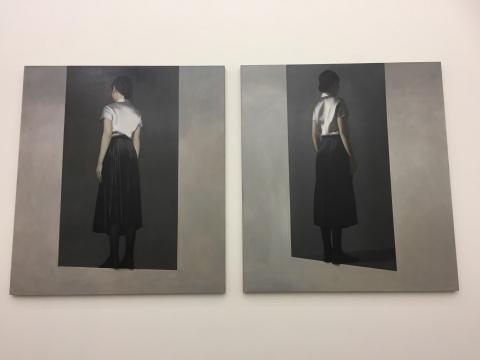 《不规则四边形的入口》 195×175cm×2 布面油画 2017