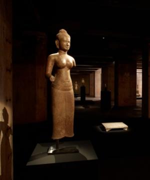 来自1世纪的高棉石雕佛像和荒木经惟的摄影,作品上访只有一柱冷光