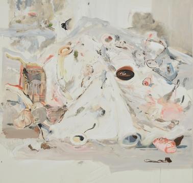 塞西丽·布朗《终结》215.9×226.1cm 亚麻布油画2006年创作  估价: 400万 - 600万港元