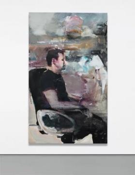 阿德里安‧格尼 《猴子自画像》145 x 84cm 布面油画2010年创作  估价: 600万 - 800万港元