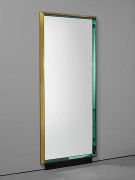 马克斯·英格兰 《稀有大型全身镜 型号 2274》199.5×80.3×7cm玻璃镜面,上色玻璃镜,黄铜着色木 1960  估价:10万-15万港元