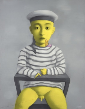 张晓刚 《小孩就》 190×150cm 布面油画 2002  估价:RMB:3,000,000-5,000,000
