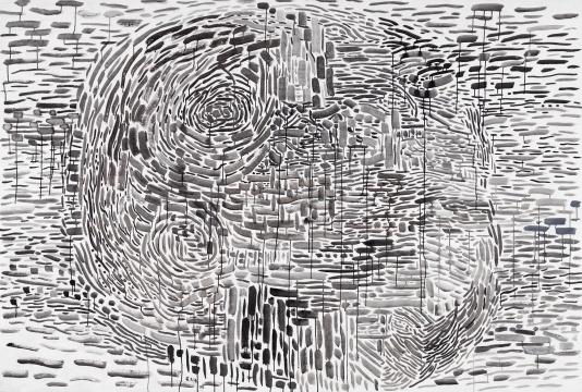 余友涵《2008.07.22》172×254cm布面丙烯 2008