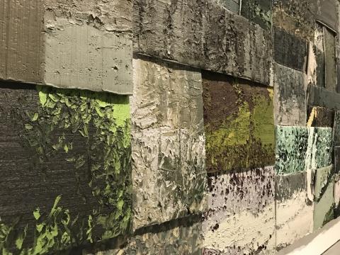 李松松《未名湖》360×400cm铝板油画 2013