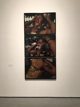 米格尔·里奥布朗库《对着红尾蚺微笑》180×100cm 摄影
