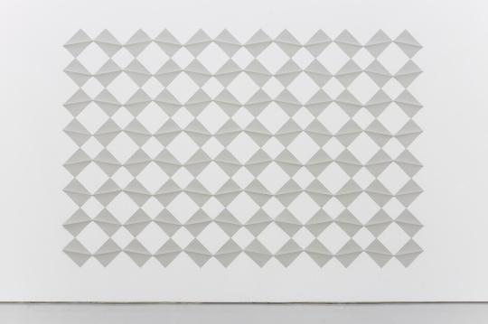 《Square Waves》尺寸可变 纸质装置2017