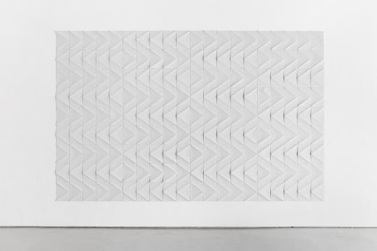 《Zig-zag Echoes》尺寸可变 纸质装置 2017