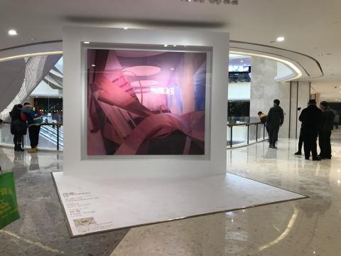 侯勇《光觉-12》 250 x 220 cm 布面丙烯 2015