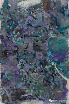 《成都花园》 45x30cm 布面丙烯 2016