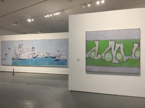1977年出生的唐永祥的两件绘画作品