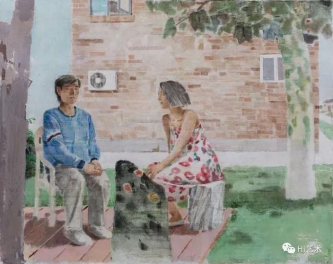《黑桥的夏天》 190×240cm布面坦培拉2017