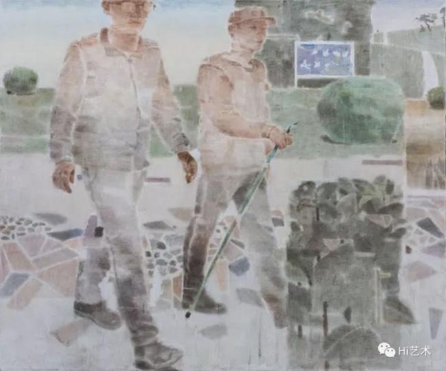 《行走的人Ⅱ》200×240cm布面坦培拉2017