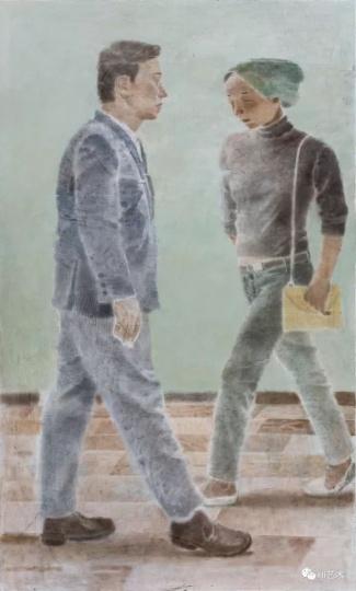 《两个人Ⅱ》 200×120cm木板坦培拉2017