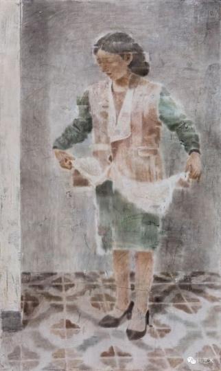 《她》200×120cm木板坦培拉2017