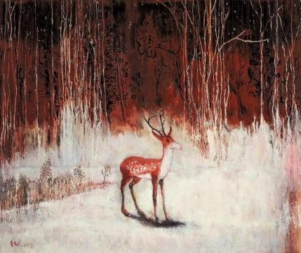 《异地风景》110×130cm 油彩丙烯 2017