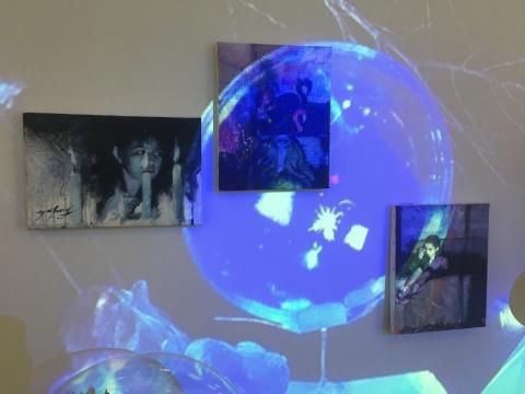 展览现场,还原了部分画面中的内容