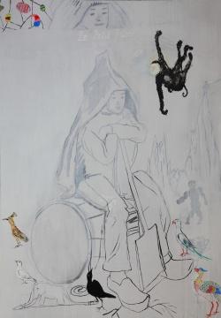 盛天泓 《小王子》 213x152cm 布面混合材料 2016