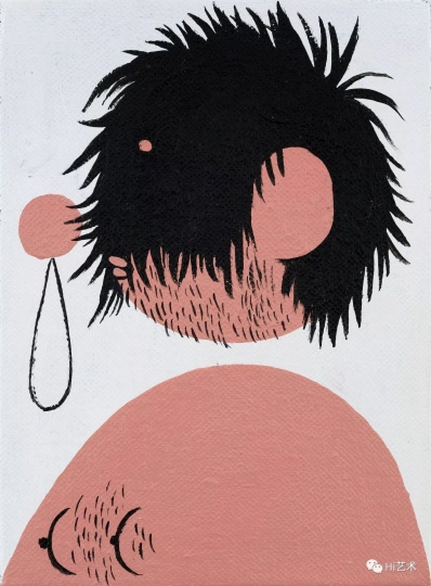 《暴走发型之一》 22×16cm 布面丙烯 2017