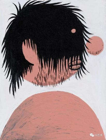 《暴走发型之三》 19.5×15cm 纸上丙烯 2017