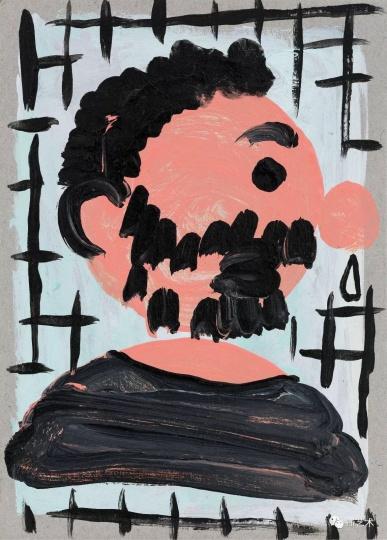 《流鼻涕的我之一》 18×13cm 纸上丙烯 2017