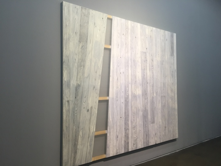 《木/凛NO.6》295×254×6cm实木拼合内板 墨 绡 漆 丝线 铁钉 2017