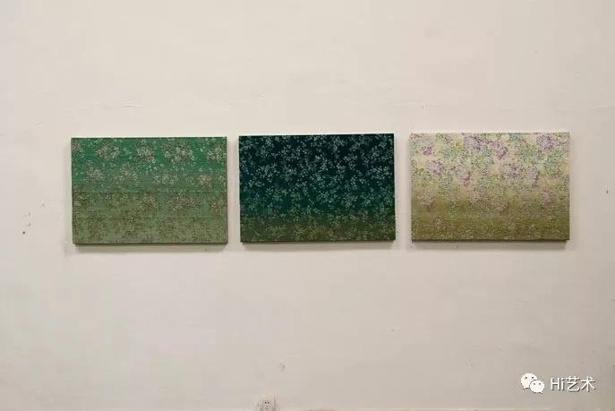 《穿过玻璃》95x65cm×3 亚麻布上绘画 2011