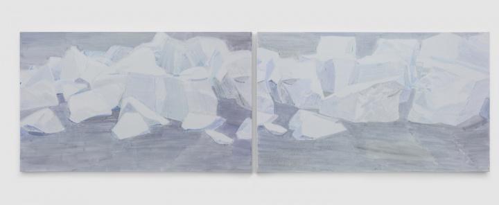 《白石 No.6 & No.5》 150×250cm×2 布面油画 2017