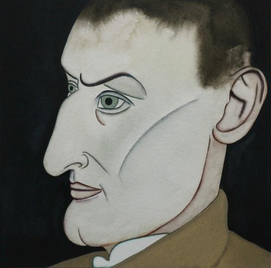 《黑塞在1902》 21×21cm 纸本水彩 2017