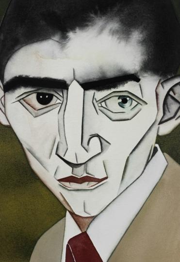 《饥饿艺术家》 31×23cm 纸本水彩 2017